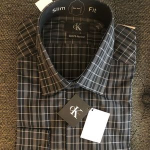 NWT men's Calvin Klein slim fit shirt